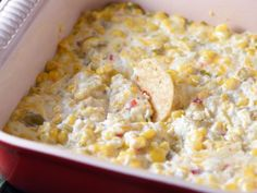 This cheesy corn dip is pure comfort food and ridiculously easy to make! Perfect for parties or game day get-togethers. Finger Food Appetizers, Appetizer Dips, Finger Foods, Appetizer Recipes, Party Recipes, Dip Recipes, Pureed Food Recipes, Crockpot Recipes, Cooking Recipes