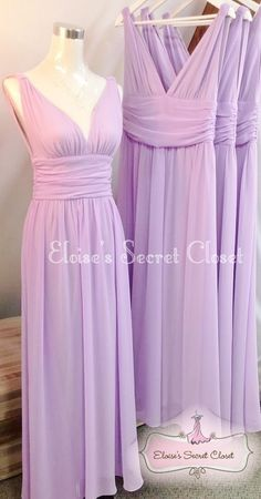GRECIAN Lilac Jewel Chiffon Maxi Long Prom Evening Bridesmaid Dress - www.eloises-secret-closet.co.uk