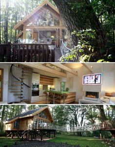 This may just be one of the most luxurious treehouse vacation rentals in the UK. The contemporary lakeside treehouse for getaway spot Cleveley Mere can sleep up to six, with two bedrooms, a sun deck, floor-to-ceiling windows and a rope bridge.