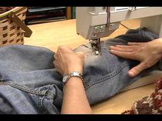 ▶ PatchingJeans.wmv - YouTube. Amazing demonstration of denim repair.