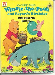 Winnie-the-Pooh and Eeyore's Birthday Coloring Book, Whitman #1366, 1976