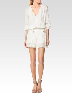 PAIGE LEMAY DRESS - WHITE. #paige #cloth #