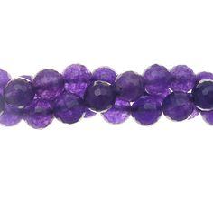 Purple Jade 8mm Faceted Gemstone Bead Strand