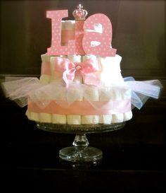 Ballerina Diaper Cake. $55.00, via Etsy.