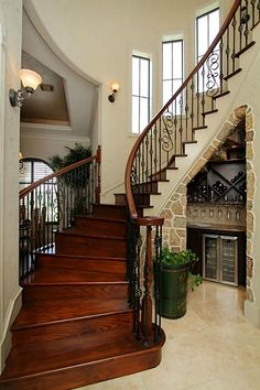 A must have  for my future home winding staircase with a wine cellar that will be full of moscato and sweet reds ☺️☺️☺️☺️