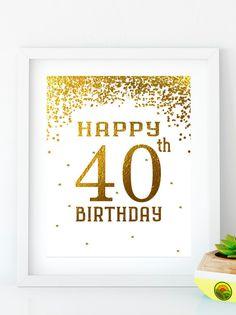 Items similar to Happy Birthday 55 Gold birthday sign birthday party Printable Gold party decor print birthday decoration on Etsy Happy Birthday Name, 60th Birthday Party, Gold Birthday, Birthday Favors, Birthday Party Invitations, Birthday Wishes, Birthday Signs, Birthday Greetings, Wedding Invitations