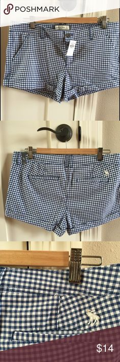 Abercrombie brand NWT size 10 plaid khaki shorts Abercrombie brand NWT size 10 plaid khaki shorts.  Perfect silhouette for Summer.  Comes from pet free and smoke free home. Abercrombie & Fitch Shorts