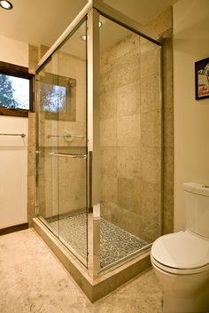 Park Model 030. Look at that shower! Come on! Tiny house, big shower! Love it!