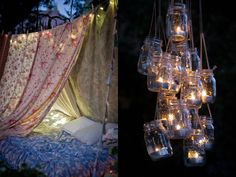 Yeah, yeah.  Everyone and their mom does mason jars at weddings, but that cluster chandelier is worth it.