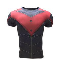 11176b04cb5b4 Caliente nuevo vengadores superhéroe NIGHTWING camiseta de compresión medias  MENS FITNESS CROSSFIT T camisa Ropa CAMISETAS