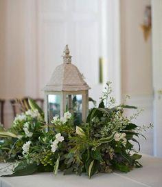 Lantern/floral centerpiece