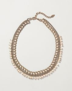 Coldwater Creek Circle of Pearls, Necklace, Ivory