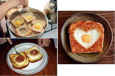Culinária - Tosta com ovo estrelado