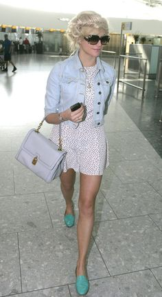 Pixie Lott, perfect body and lovely style ! Used to love her firsts song, sadly she's changed her style of music ...