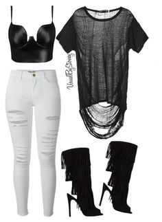 """Untitled #707"" by fashionaffiliated ❤ liked on Polyvore featuring Obesity and Speed, Frame Denim and Posh Girl"