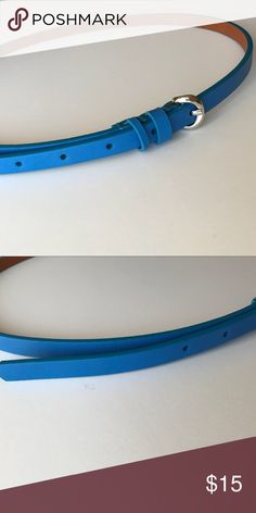 🆕 Listing - Blue Skinny Leather Belt ❌No trades  - ❌ ALL sales are final 💗Be courteous no low balls 💌Reasonable offers accepted 📦 Ships out same day or next - depending what time of day you ordered ⬇️Have a question? Leave a comment 😀  Product Info📝 🔗Color: Royal Blue 🔗Length: 40 inched  🔗Size: Small/Medium Old Navy Accessories Belts