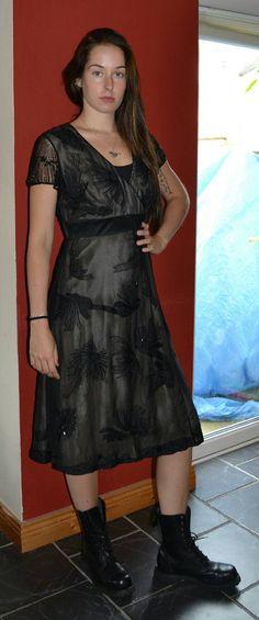 This item is unavailable Gothic Fashion, Vintage Designs, Vintage Dresses, Evening Dresses, My Etsy Shop, Feminine, Silk, Formal, Check