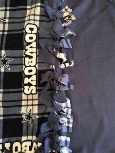 Dallas Cowboys Fleece Tie Blanket by ScarlettMonkey on Etsy