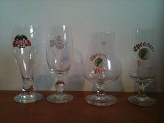 For Sale: Four original glasses, two Spessart, two Grolsch/Amber ...