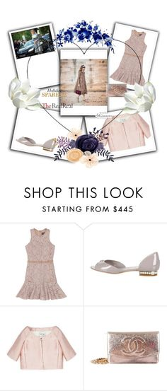 """""""Holiday Sparkle With The RealReal: Contest Entry"""" by nedim-848 ❤ liked on Polyvore featuring Lanvin, Chanel and Valentino"""