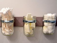 Beauty Organizing DIYs Using Mason Jars - Organizing Projects for Beauty and Nail Products - Good Housekeeping