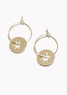 & Other Stories Star Charm Hoop Earrings in Gold