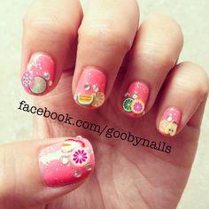 Tutti frutti! ✴ Glitter ✴ , rhinestones & fruity fimo tips! @missgoob- ❃