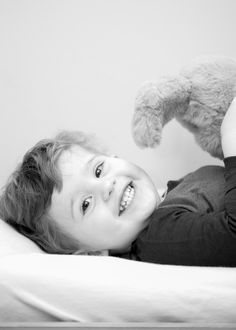 Happy Boy Black and White Photography
