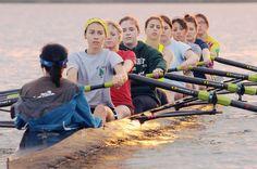 Photos: Mercyhurst Prep Rowing Teams Train at Presque Isle