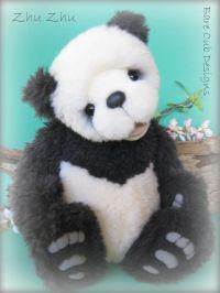 Bear Making step by step photo guides and pattern showing you how to make this panda bear with appliqued paws and a double jointed neck, open mouth and 40 + pattern pieces, and its easier than you think. You receive 12 patterns and 12 guides - everything you ever wanted to know about bear making sent to your inbox!