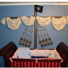 Baby boy pirate nursery