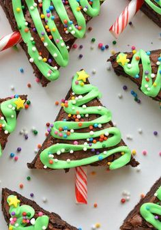 Brownie kerstboom