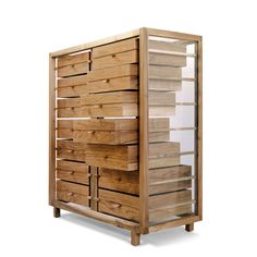 Elegant Optimum Chest Of Drawers - Glass sided with Walnut frame & Drawers. This is the coolest Dresser Ever! #furniture #dresser #home #chest #decor #bedroom