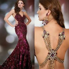 2015 Collection Rami Salamoun Evening Dresses Luxury Jewellery Rhinestone Back Lace Embroidery Applique Mermaid Chapel Train Prom Dress Online with $186.92/Piece on Huifangzou's Store | DHgate.com