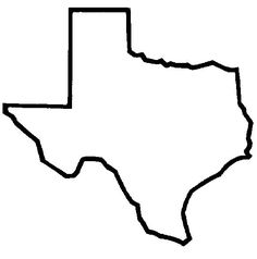Texas outline silhouette