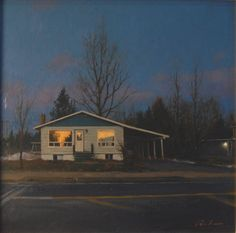 Linden Frederick, Picture Window, 2012, oil on panel, 6 x 6 inches