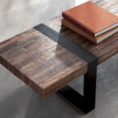 Crate & Barrel Seguro Coffee Table Look 4 Less! Entry bench idea.