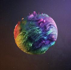 Lucy in the sky  #abstract #design #art #illustration #paint #painting #artistsoninstagram #rsa_graphics #rikoostenbroek #maxon #c4d #vray #acrylic #artist #creative #fuckoctane #sculpting #3D #sculpting #hippyshit #lsd #drugs #rainbow #space #galaxy #planet #nasa