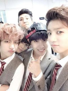 BTS's J-Hope, Jungkook, Rap Monster, Jimin, & V.
