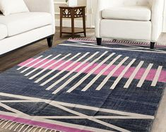 Handmade Rug / Carpet / Vintage Kantha Quilts by IndianWomensCrafts Carpet Runner, Rug Runner, West Elm Rug, Dhurrie Rugs, Kilim Rugs, Indian Rugs, Rustic Rugs, Fabric Rug, Patterned Carpet