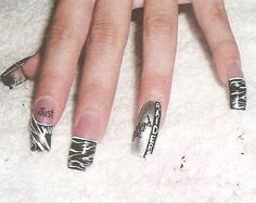 raiders nail art | Oakland Raiders NFL - Nails Style Photo Gallery | nailsstyle.com
