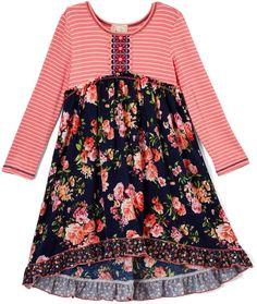 6d51284f0c70b9 Joe-Ella Pinky Mesh   Lace Dress (Little Girls   Big Girls)