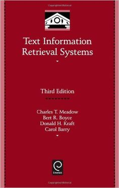 Text information retrieval systems. Library Science, Cambridge University, New Books, Collection