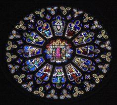 Christian Mandala, Please click on image twice to look at it at its source. Catalonia, Spain. Rosetón de la Seo de Manresa