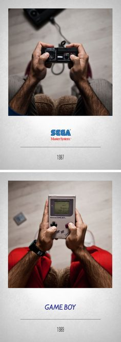 Javier Laspiur is an Art Director from Madrid, Spain. He's created a photo series depicting the history of video game controllers titled CONTROLLERS. Retro Video Games, Video Game Art, Retro Games, Playstation, Xbox, Poker, Videogames, Joystick, Consoles