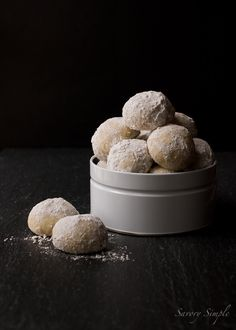 Cardamom Snowdrop Cookies ~ Savory Simple