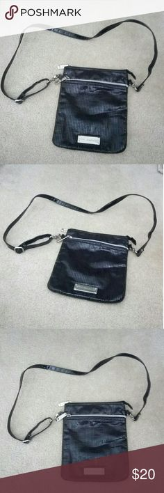 Betsy Johnson Black Sequins Crossbody Purse Good Pre-Owned Condition with Nothing To Note Betsey Johnson Bags