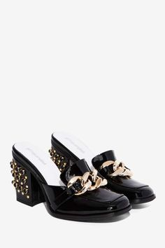 Jeffrey Campbell Wiser Patent Leather Mule - Heels