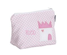 Necessaire Castelo Rosa Personalizada - Para levar em qualquer lugar e guardar o que preferir.