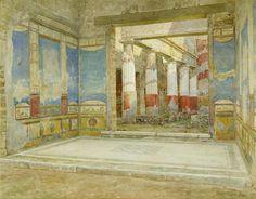 Splendidi acquerelli e disegni ,che ricostruiscono ,con precisione assoluta, edifici e dipinti danneggiati o scomparsi.